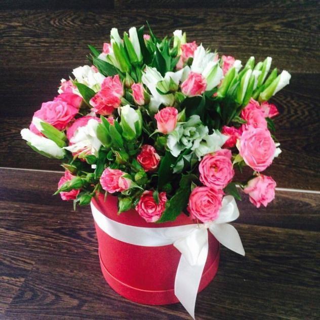 Цветы в коробочке феерия чувств