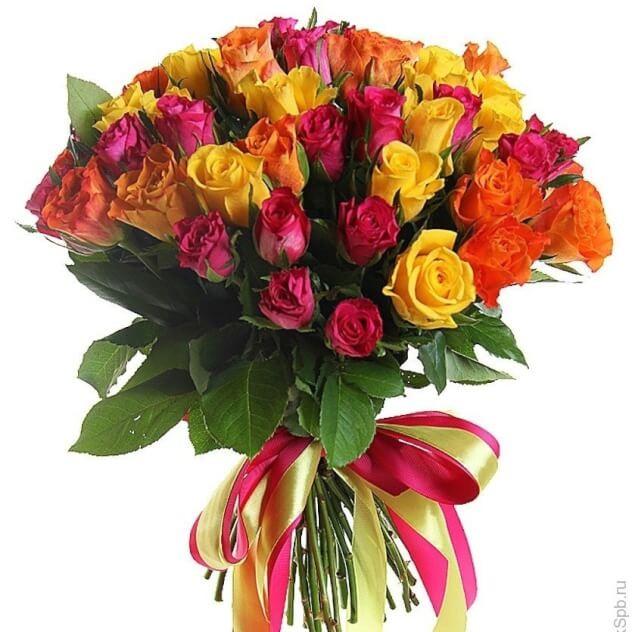 Букет 45 колоритных  роз