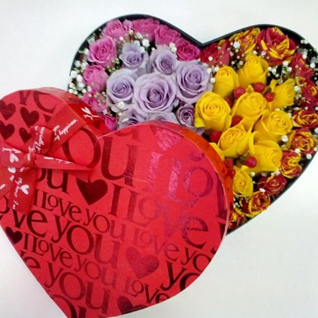 "Коробочка ""Сердечко с цветами"""